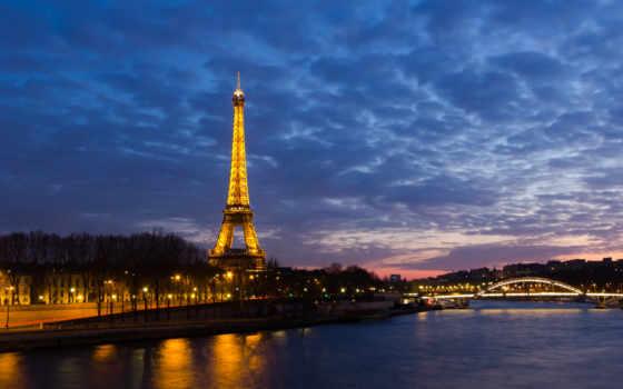 эйфелева, башня, париж