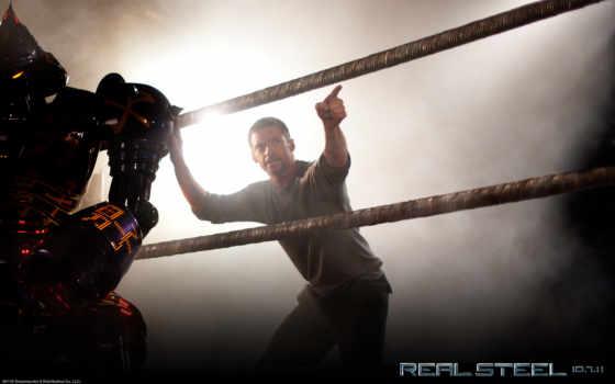 стальной, живая, real, ринг, robot,