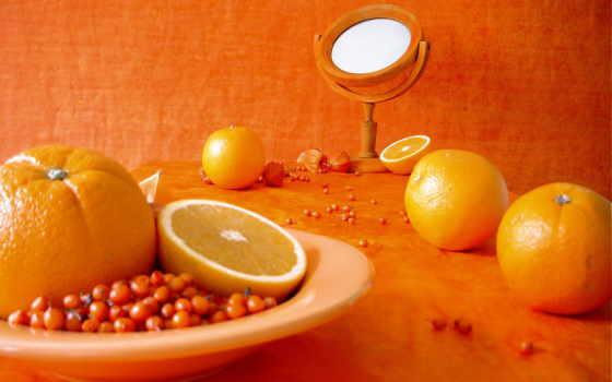 апельсины, оранжевый, фрукты, цитрус, облепиха,
