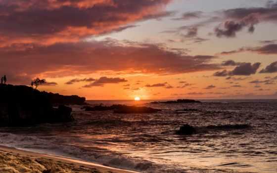закат, bay, waimea, hawaii, oahu, пляж, flickr, loeffler, себастьян,