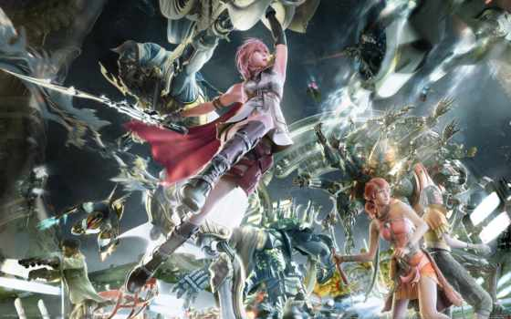 fantasy, final, игры, xiv, lightning,