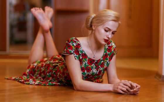 sit, женщина, платье, красивый