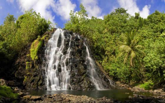 водопад, вода