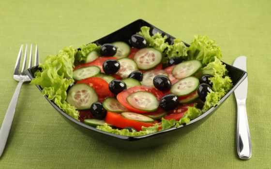 салаты, еда, салат,
