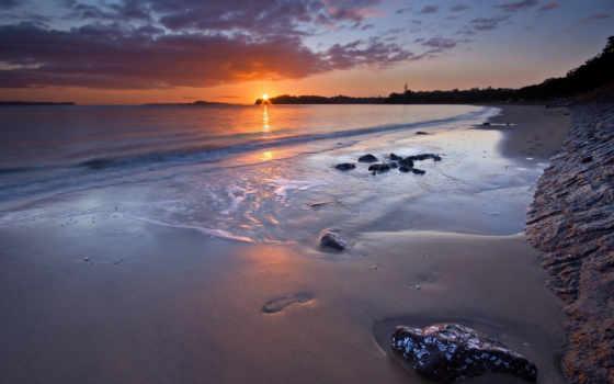закат, пляж, море Фон № 94865 разрешение 1920x1200