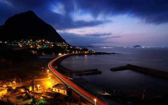 моря, море, берег, города, город, browse, виды, городов, мужчина, ночь,