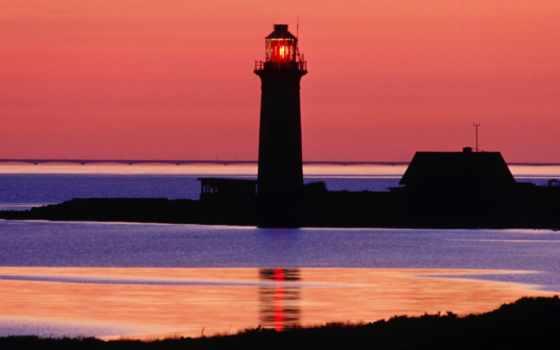 море, дании, маяки