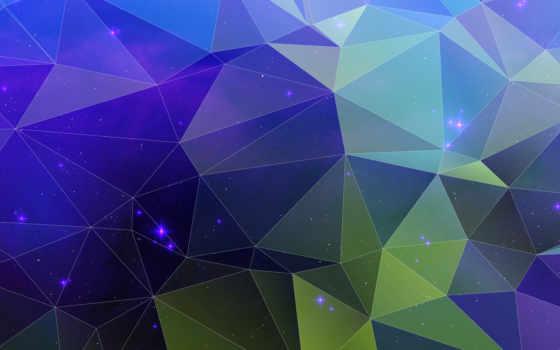 , голубой, треугольники, сеть,