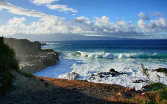 море, скалы, azul, берег, мар, ocean, природа, страница, ondas, water, пейзажи -,