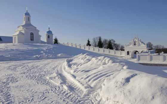 праздник, winter, church