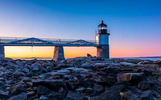 pemaquid, point, lighthouse, свет, park