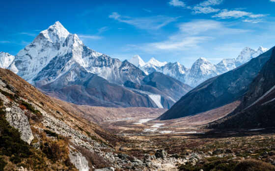 гималаи, гора, landscape, природа, height, nepal, fifth, top, land