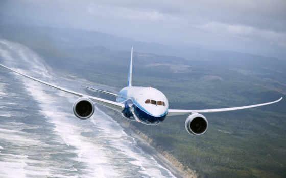 самолёт, летит, boeing