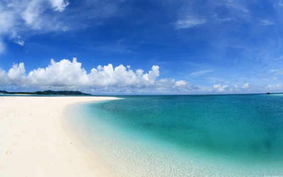 море, summer, небо