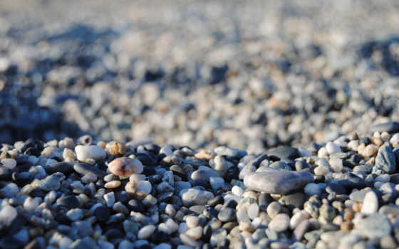 камни, галька, картинка, морская, пляж, взгляд, море,
