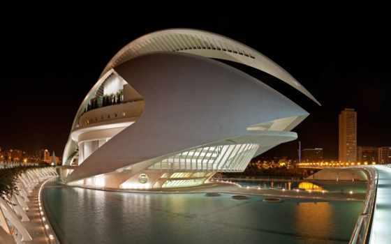 город, arts, sciences, valencia, испания, сантьяго, las, calatrava, architecture,