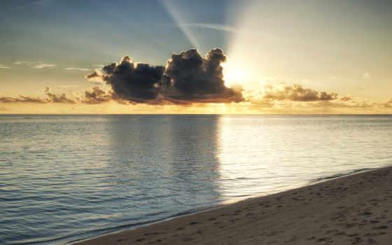 maldives, пляж, ocean, море, oblaka, tropics, берег, закат, sun, небо, rays,
