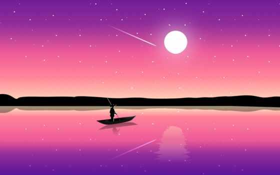 resolution, illustration, закат, креатив, smartphone, mac, dhe, fale, небо, purple, minimal