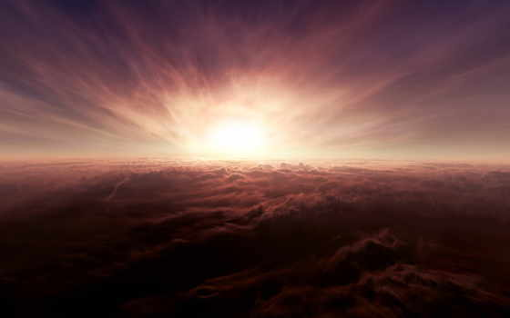 clouds, облако, вид на закат