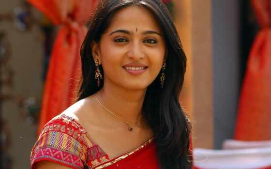 anushka, shetty, saree