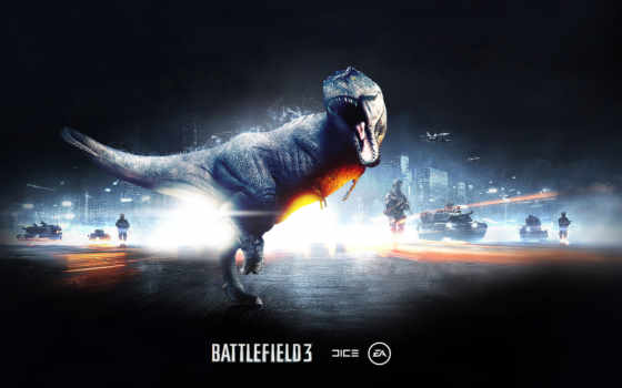 battlefield, динозавр, рык