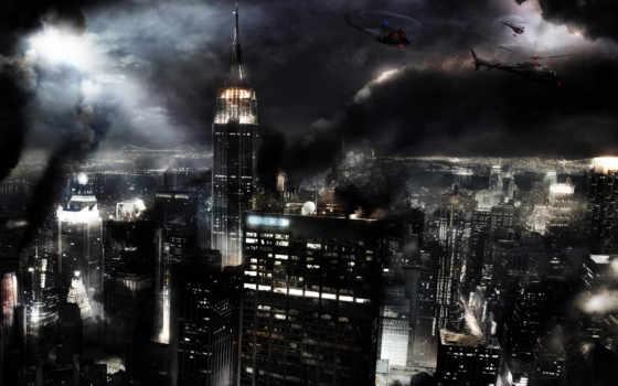 ночь, город, когда