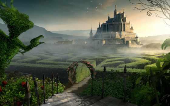 castle, лабиринт, фантастика, замки,