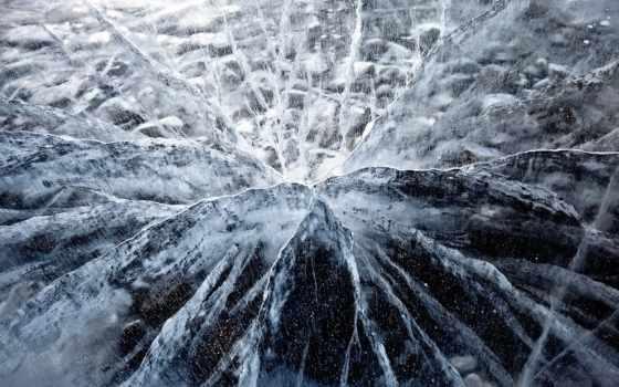 лед, трещины,