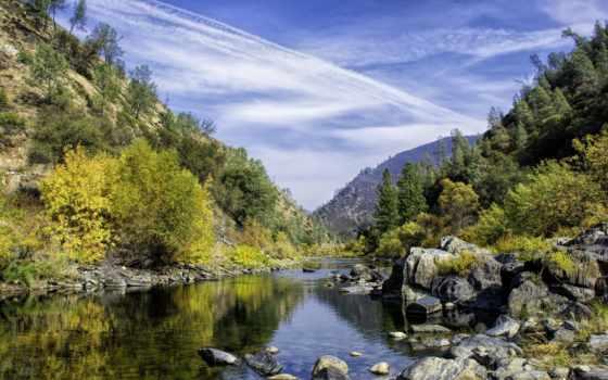 лес, national, sierra, природа, озеро, горы, природой, landscape,