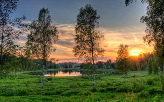 природа, озеро, estonian, картинка, rouger, рассветы, закаты, эстония, эстонии, трава,