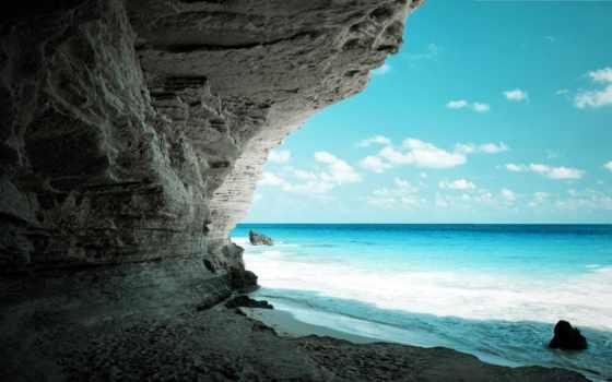 parede, papel, imagens, praia, para, mais,