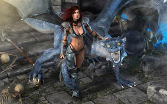 девушка, дракон Фон № 8003 разрешение 1920x1200