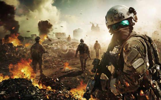 battlefield, desktop, солдат