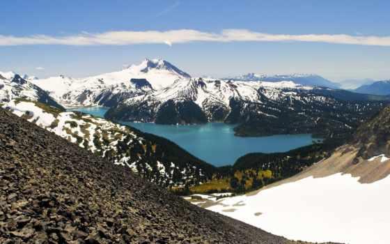 гарибальди, озеро, milli, красивые, природа, голубое, да, винчи, пейзажи -,