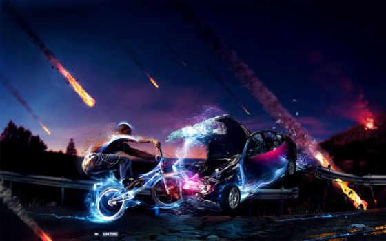 bmx, desktop, авиакатастрофа, abstract, bike,