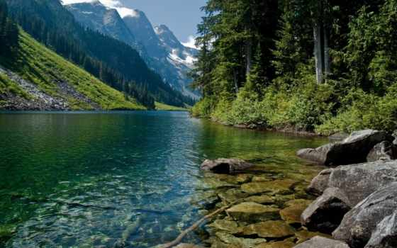 река, горная, картинка, full, природа,