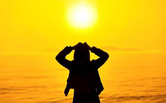 девушка, море, закат, красивые, daily, только, заставки,
