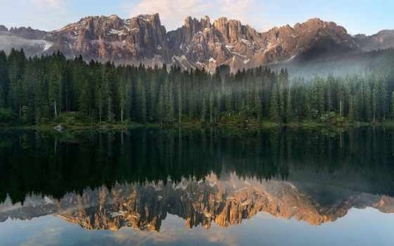 italy, лес, музыка, karersee, carezza, озеро, медитация, mind, flickr, природа, trees,