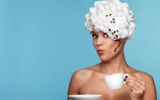 девушка, coffee, cup, мороженое, креатив, голова, зерна, июл,