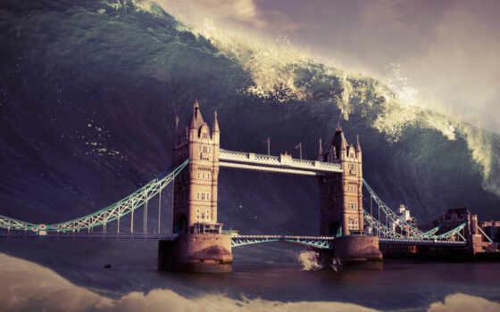 london, волна, article, science, апокалипсис, мост, город, glacier, real, потоп, world