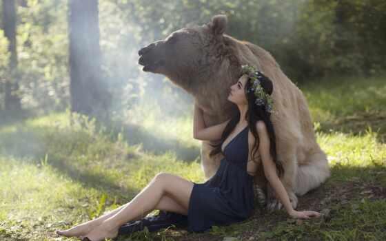 девушка, katerina, cute, lady, близко, touch, one, розовый, платье, сердце, медведь