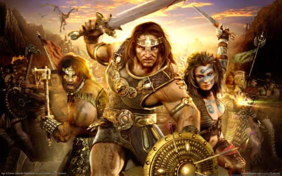 conan, age, hyborian, adventures, герои, война, драконы, игры,