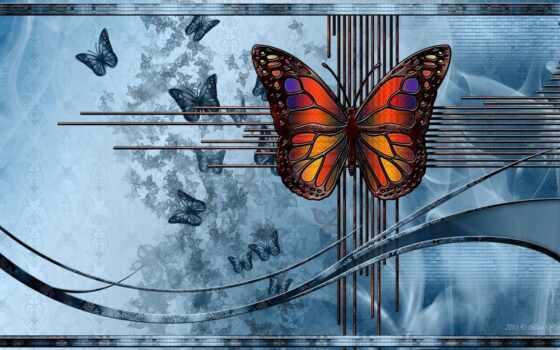 бабочка, абстракция