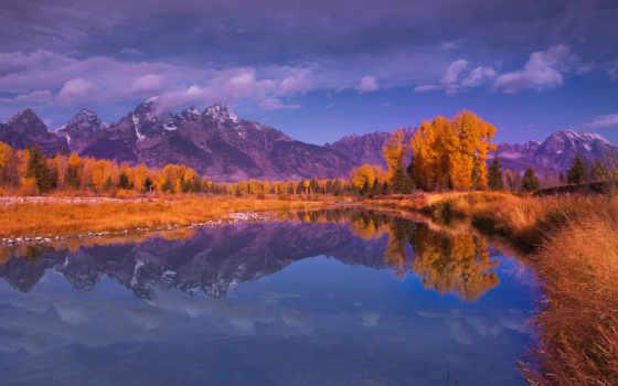 осень, горы, деревя
