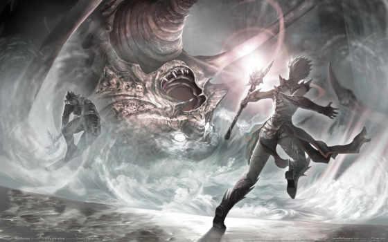 воин, эльф, битва