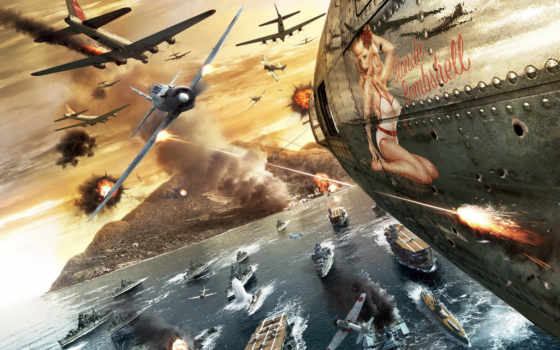 девушка, самолёт, war