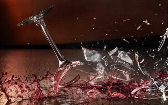 glass, вином, smash