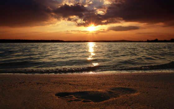 сол, praia, por