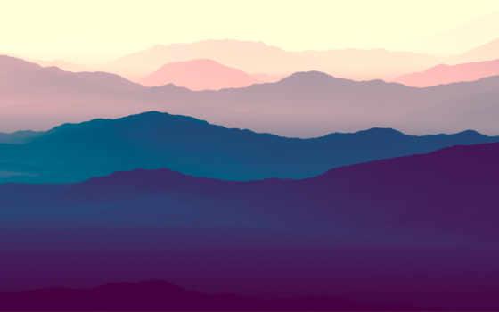 likes, mountains, landscape, purple, gradient, горизонт, природа, comments,