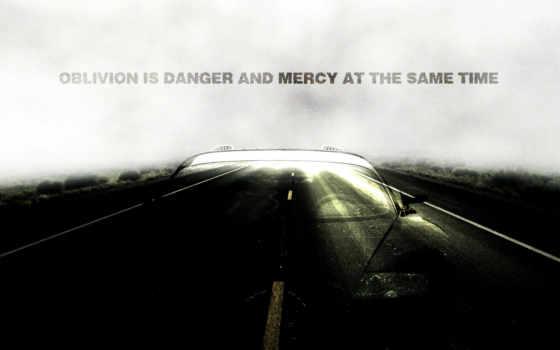 дорога, надпись, машина, прозрачная, забвение, опасности, милосердия, одновременно,